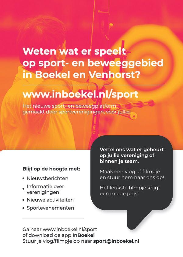 Doele Willem III is uitgelichte vereniging van Sport InBoekel
